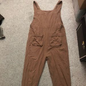 Zanzea brown overalls